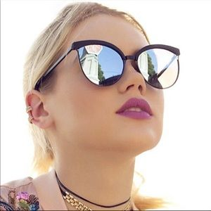 Accessories - Womens black mirrored sunglasses